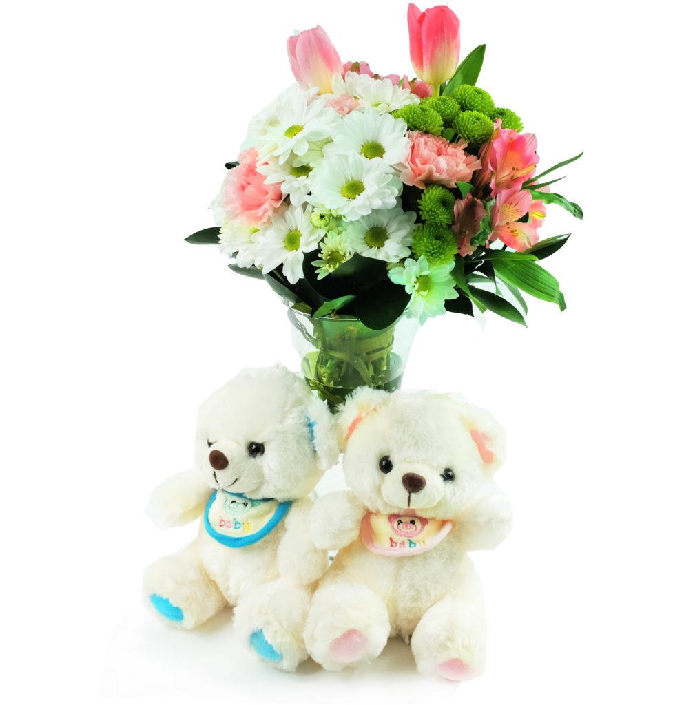 kwiaty na narodziny
